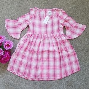 GAP Dresses - Bell sleeve Plaid dress